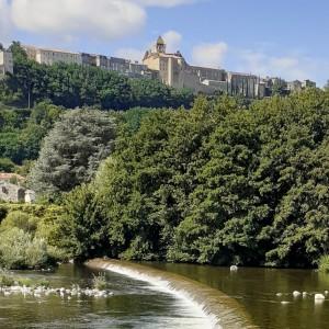 Château d'Aubenas et rivière Ardèche
